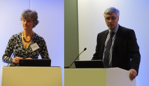 Dr Anne Mackie and Prof David Walker talking at the conference.