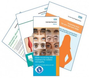 A collection of screening leaflets.