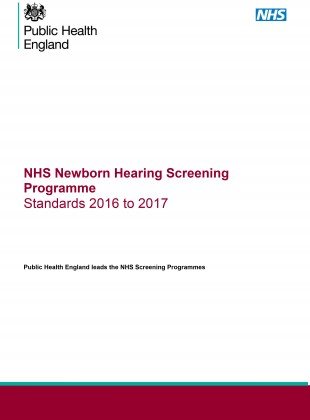 Cover of the revised Newborn Hearing Screening Programme Standards.