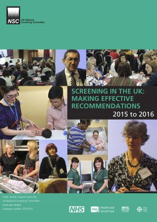Screening in the UK _ making effective recommendations 2015 to 2016 150716-1