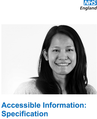 The accessible information specification document cover
