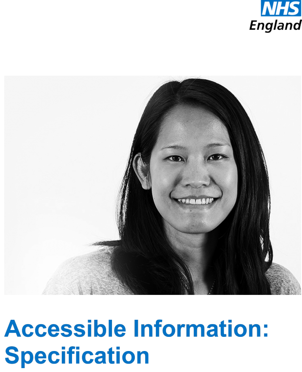 The accessible information specification front cover