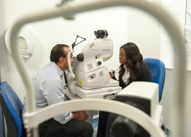 Diabetic eye screening examination