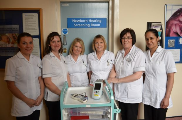Sarah (2nd left) Suzanne (2nd right) and some members of the screening team