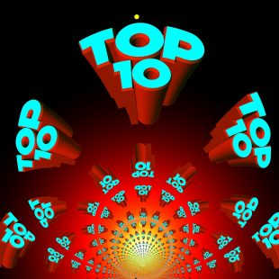 A geometric image with the words 'Top 10' repeated.