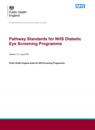 The revised national diabetic eye screening programme pathway standards