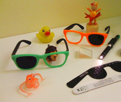 The special glasses used in vision screening