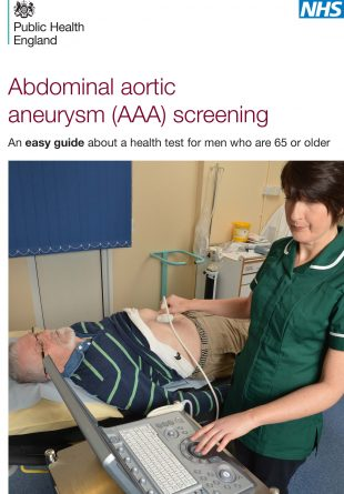 Easy read AAA screening invitation leaflet