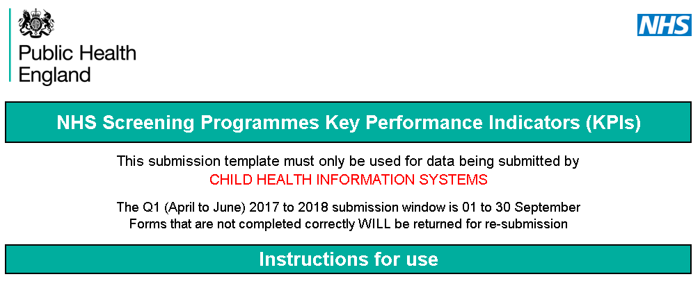 Updated templates for antenatal and newborn KPI data collection ...