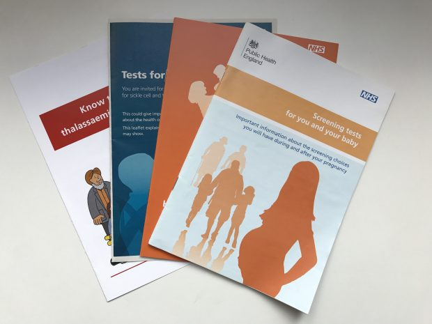NHS Screening Programmes leaflets