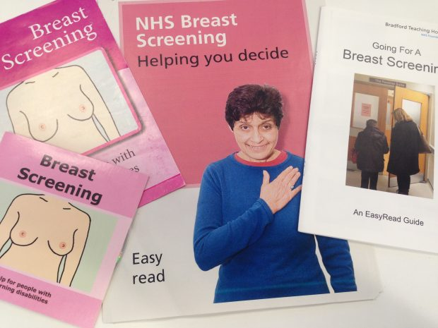 Easy read breast screening information resources