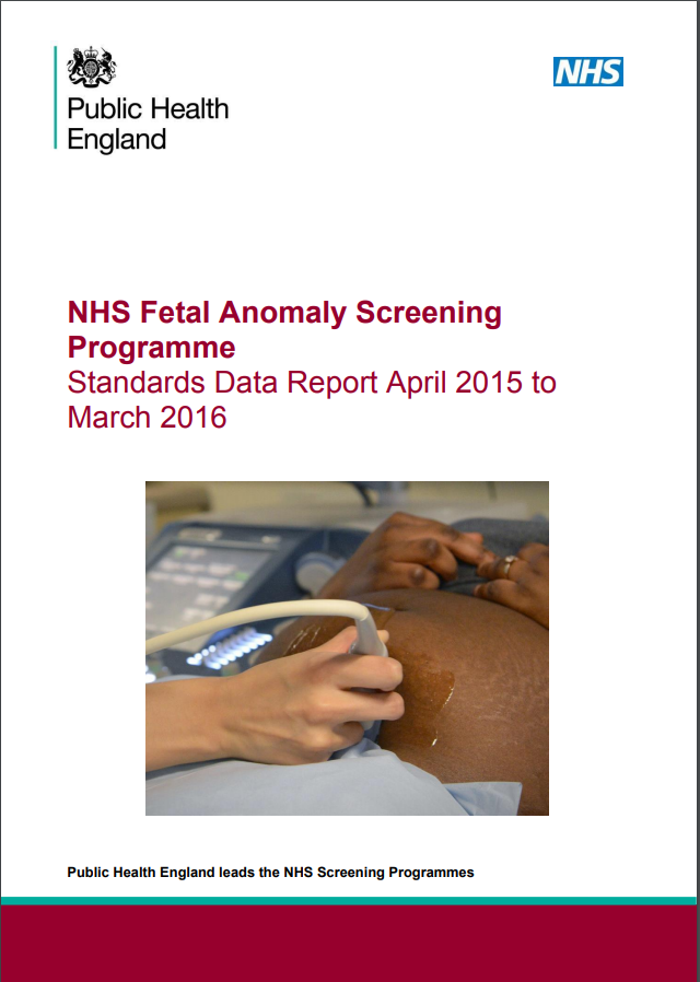 We've published first annual fetal anomaly screening data