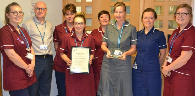 The award-winning newborn screening team at the Royal United Hospitals Bath NHS Foundation Trust