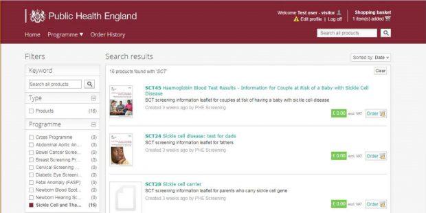 APS group online ordering portal screen shot