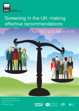 Front cover of the screening in the UK publication