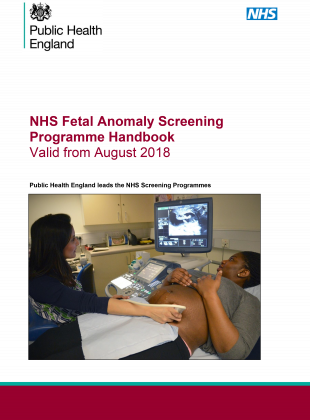 Front cover of the updated programme handbook shows a woman being screened.