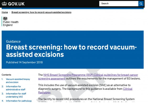 The new guidance on recording vacuum-assisted excisions