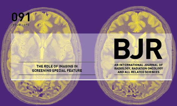 Cover of British Journal of Radiology (BRJ) screening special. Includes the words 'The role of imaging in screening special feature'.