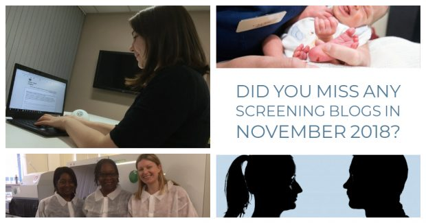 An infographic shows a collection of images from 4 blogs and the words 'Did you miss any of our screening blogs in November 2018'.