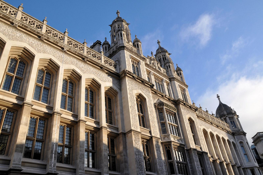 A photo of the front of one of the buildings of King's College London