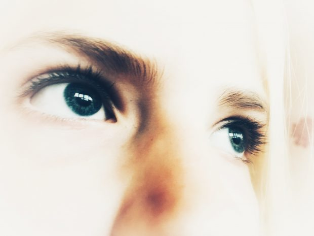 Close up of girls eyes