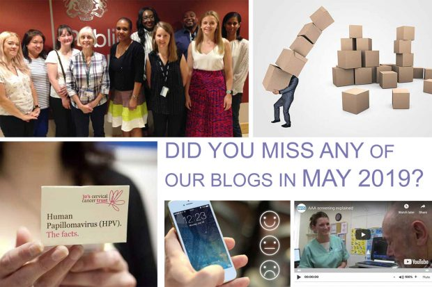 An infographic showing five photos from five different blogs published in May 2019. Words say Did you miss any of our blogs in May 2019?