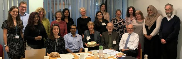Members of the inherited metabolic disease screening advisory board gathered for a photo