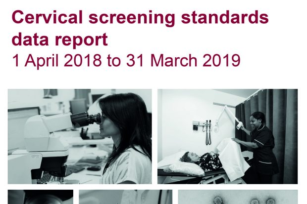 Front cover of cervical screening standards report