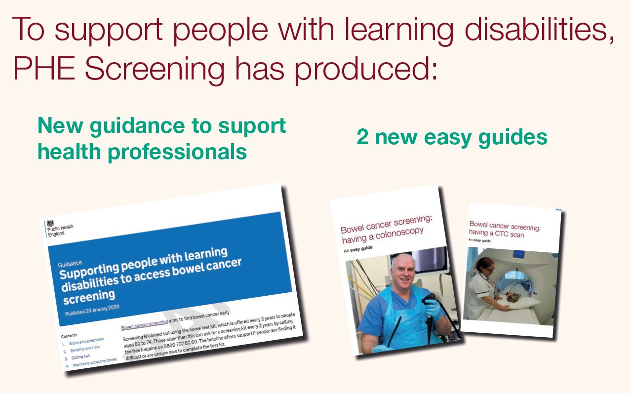 Bowel Cancer Screening New Information For People With Learning Disabilities Phe Screening