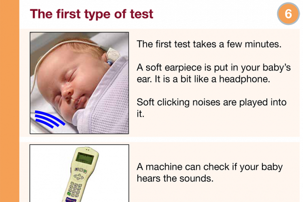 Excerpt from the newborn hearing screening easy guide